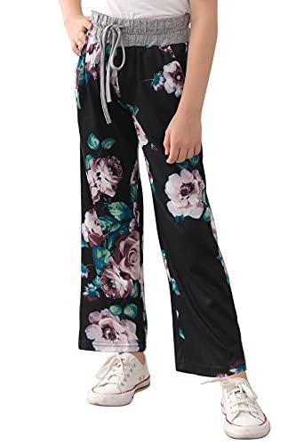 GORLYA Girl's Casual Wide Leg Workout Pants Loose Yoga Drawstring Trousers...