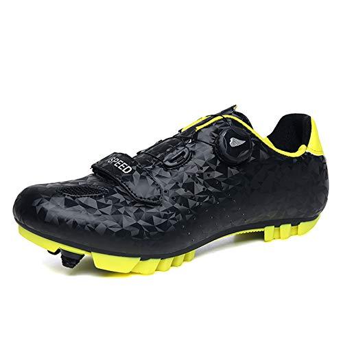 Gogodoing Zapatillas de Ciclismo de Bicicleta de Montaña para Hombre Compatibles con...