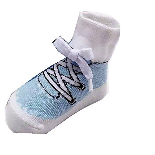 Ouneed® 0-2 ans Bebe Enfant Socquette (S, Bleu clair)