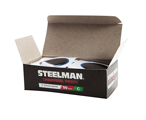 Steelman 2-Inch Universal Tire Repair Radial Patch, Chemical or Heat Cure, for Tubeless Tires, Box of 50