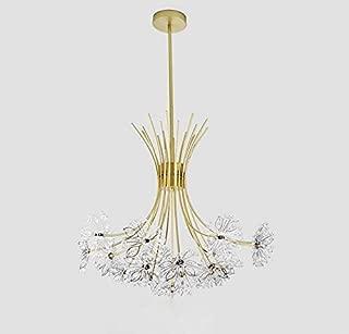 Modern Firework Chandeliers, 19 Lights Crystal Dandelion Chandelier, Pendant Lighting, Ceiling Lights Fixtures for Living Room Bedroom Restaurant,19-Light, Gold