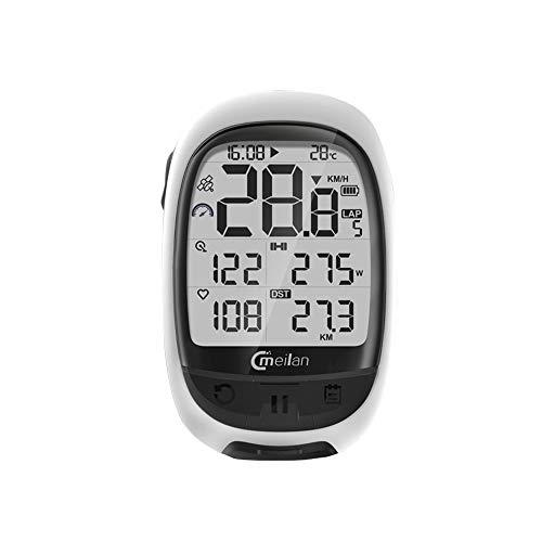 Walmeck- M2 GPS Bicicleta Ordenador Cadencia Frecuencia cardíaca Medidor de Potencia Ciclismo Navegación Ordenador