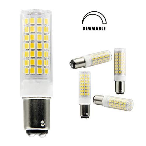 TechArts B15D LED-Glühbirnen 6W, Entsprechend B15D Halogenbirne 75W, DC-Bajonett-Doppelkontakt-Sockel für Nähmaschinenlampe, Deckenventilatorbirnen, warmweiß,3000k,Dimmbar (2er-Pack)