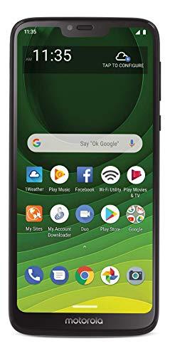 Tracfone Motorola Moto G7 Optimo MAXX 4G LTE Prepaid Smartphone (Locked) - Black - 32GB - SIM Card Included - CDMA