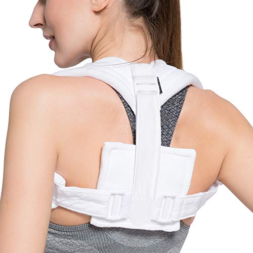 Velpeau Figure 8 Clavicle Brace - Broken Collarbone Sling for Injuries & Fractures, Shoulder Support Strap for Posture Corrector for Men and Women(Medium)