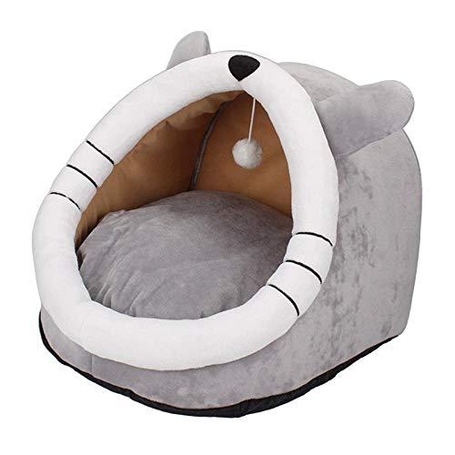 Baoblaze Cama de Perro Suave Adorable Mascota Invierno Nido para Dormir para los Animales pequeños Gato Cachorro Gatito - Amarillo-M
