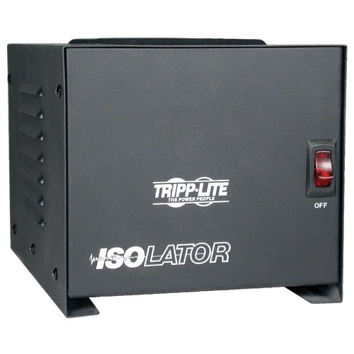 Tripp Lite IS1000 Isolation Transformer 1000W Surge 120V 4 Outlet 6ft Cord TAA GSA