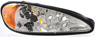 Headlight Assembly Compatible with 1999-2005 Pontiac Grand Am Halogen Passenger Side