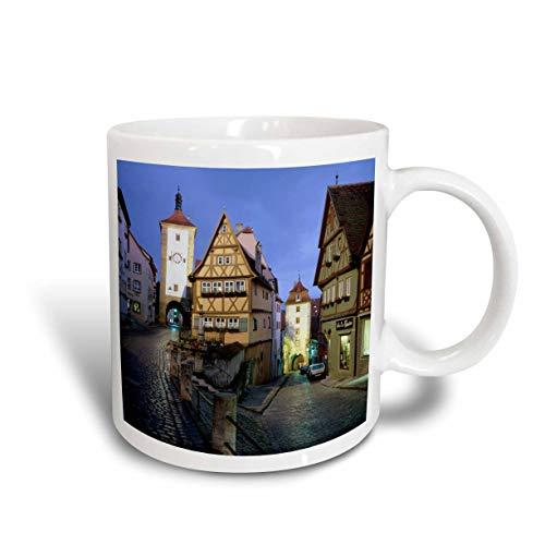 N\A Alemania Bavaria Rothenberg OB Der Tauber Building and Streets Taza de cerámica, Color Blanco