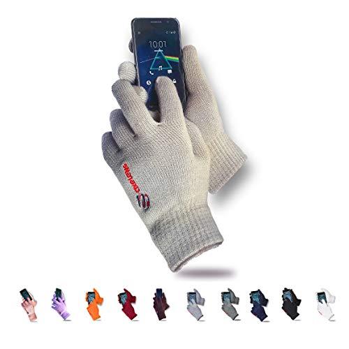 axelens Guantes Touch Screen Táctiles Invernales os Persuade Resistentes al frío - Unisex - Interno Felpudo - por Smartphone, Celulares y Tablet - Confección Regalo incluida! - Beis