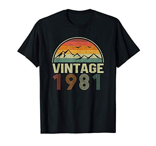 Classic 40th Birthday Gift Idea Vintage 1981 T-Shirt