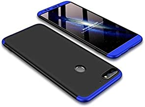 ERIT® Oppo A5 Model Cover 3in1 Dual Hybrid Double Dip Hard Back Cover Shock Absorber (Black & Blue)
