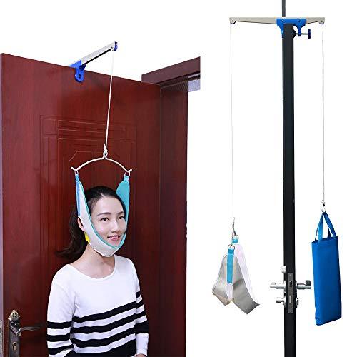 YxnGu Dispositivo de tracción Cervical sobre la Puerta para Trabajadores de Oficina, Trabajadores corporales - Cabeza Hamaca para Alivio del Dolor de Cuello y Terapia física