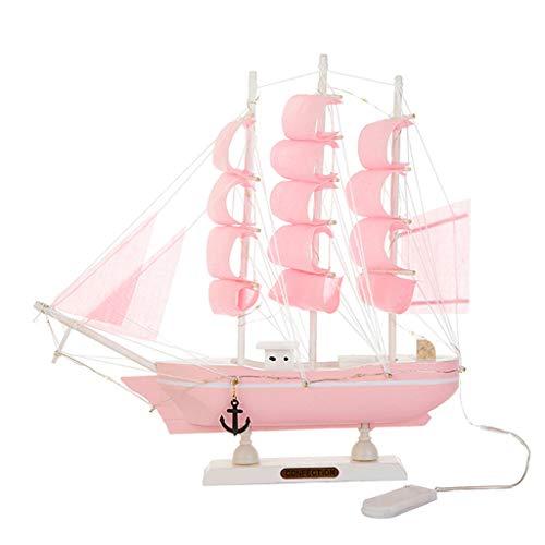 yuwei Mini Modelo del Barco de Vela, de Madera pequeño velero, Decoración Hogar Set, náutico Modelo Diseño