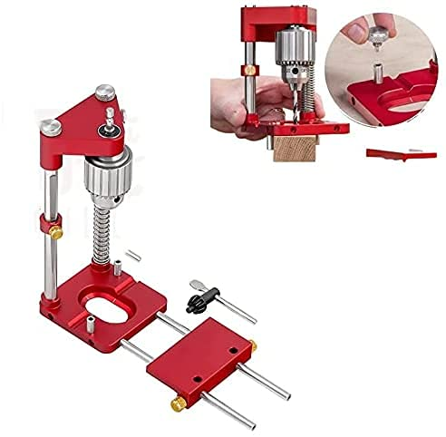 Localizador de perforación para carpintería Kit de herramientas de localización de punzón ajustable Regalos para padres, herramientas de mano de posición de conexión de muebles de bricolaje (rojo)