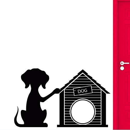 PSpXU Vinyl Wandtattoo Hund Welpe Haustier Wandaufkleber Home Decoration Hundehütte Tierhandlung Wand Vinyl Wandaufkleber Hund Salon Wandmalerei68x42cm