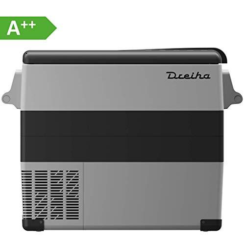 Dreiha CBX55 Kühlbox, elektrische tragbare Kompressor Kühlbox/Gefrierbox 12V/24V und 230V für Auto, LKW, Boot, Camping, Wohnmobil und Steckdose, Kühlung von -20 °C bis +20°C