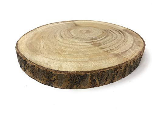 Vetrineinrete® Base in Legno a Forma di Tronco Decorazione Tavolo alzatina centrotavola per composizioni rustiche Shabby Chic 26 cm 8786 X44