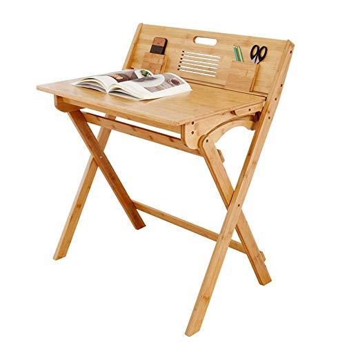N/Z Wohngeräte Klappcomputer Tragbarer Bambus-Esstisch Freizeit-Tisch mit Schublade 74-mal, 47-mal, 90 cm