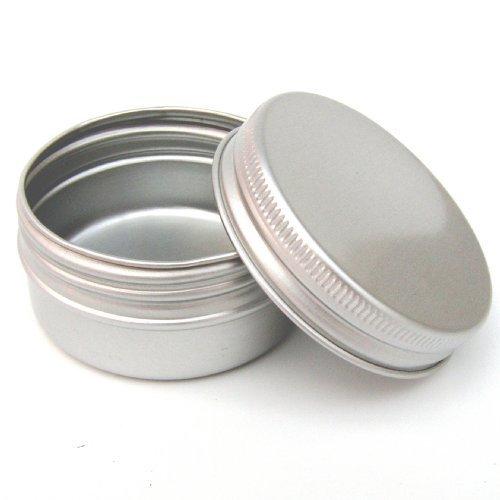 Avalon Cosmetic Packaging 25 x 30ml Aluminium Maquillage Pots 30ml capacité Vide Petit produits de beauté/Bougie/épice pots/Produit Capillaire Boîtes Bocaux