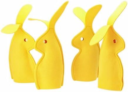 Preisvergleich für TCHIBO 4er-Set Eierwärmer BIG BUNNY, 4 große Hasen aus Filz, Ostern-Deko-Hase, Osterhase