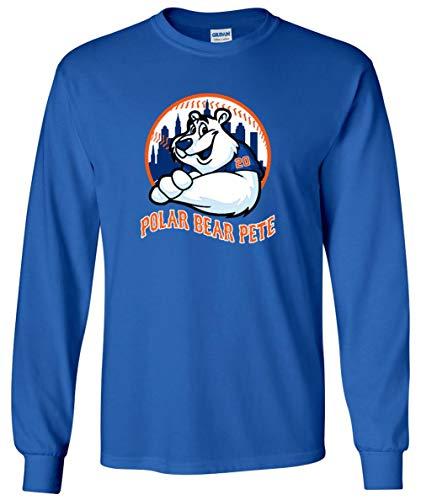 Long Sleeve Blue New York Polar Bear Pete T-Shirt Adult