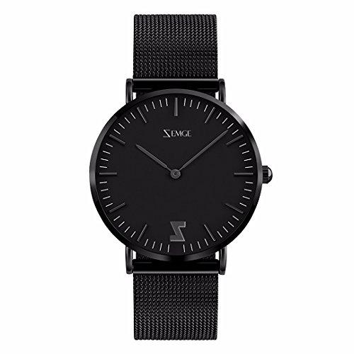 ZEMGE 40mm Hombres Mujeres Reloj analógico de Cuarzo de Ultra Delgada Resistente al Agua Reloj de Pulsera Unisex Business Casual Simple diseño DW Estilo 40 mm ZC0503M