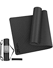 24HOCL Yoga Mat Non Slip, Eco Friendly Pro Exercise Mat with Carrying Strap Storage Bag and Headband for All Types of Yoga, Pilates & Floor Workouts (183 x 61cm-6mm)