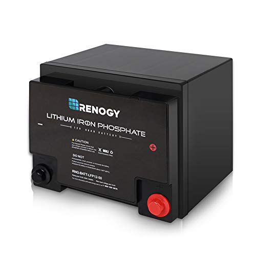 Renogy Lithium-Iron Phosphate Battery 12 Volt 100Ah for RV, Solar,