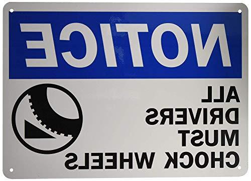 qidushop Wandschmuck Schild Legend Beachten Sie Treiber müssen Bremskeil Rollen Schwarz Blau auf weiß Funny Home Schild Frauen 25x 35cm