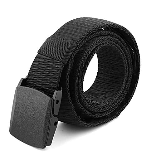ALEOHALTER 1 unid cinturón de dinero de viaje cinturón de cintura antirrobo secreto bolsillo bolsillo cinturón de seguridad 1.25 mx3.8 cm con cremallera secreta (negro)