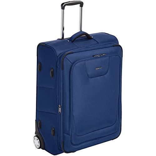 Amazon Basics – Erweiterbarer Weichschalen-Rollkoffer, mit TSA-Schloss und Rollen, 66 cm, blau