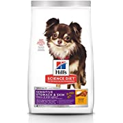 Hill's Science Diet Dry Dog Food, Adult, Small & Mini, Sensitive Stomach & Skin, Chicken Recipe, 15 LB Bag