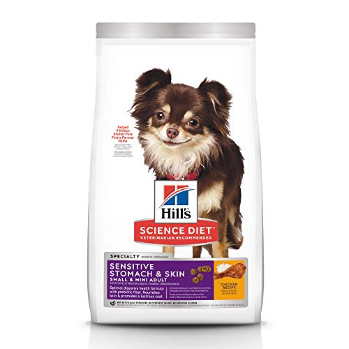 Hill's Science Diet Dry Dog Food, Adult, Small & Mini, Sensitive Stomach & Skin,...