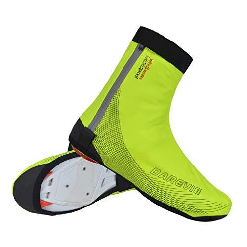 Fundas para zapatos de ciclismo, invierno, térmicas, resistentes al viento, impermeables, para deportes al aire libre, para hombres, mujeres, bicicleta de carretera, color verde, S