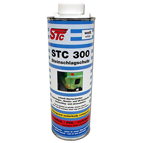 STC 300 Steinschlagschutz 1 L nass in nass überlackierbar, UBS Unterbodenschutz auf Kunststoffbasis (weiß)