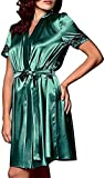 QJHDO Camisones Eróticos De Mujer Lencería Sexy para Mujer para Mujer Vestido De Noche Lencería De Encaje Sexy Robe-Green_L