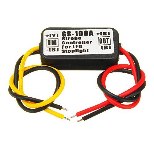 QTY1 GS-100A 12V Impermeable al Impermeable Controlador de estroboscopio Módulo de flaster para la lámpara inactiva de la Parada del Freno del LED del Coche CH0311