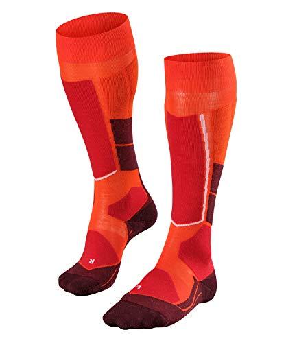 FALKE Damen, Ski Touring Socken ST4 Wool Merinowollmischung, 1 er Pack, Orange (Samba Orange 8182), Größe: 37-38