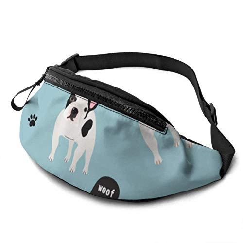 JOCHUAN Running Fanny Pack Puppy Family Cartoon Dog Waist Bag para Hombres con Conector para Auriculares y Correas Ajustables Fitness Fanny Pack para Viajes Deportes Senderismo