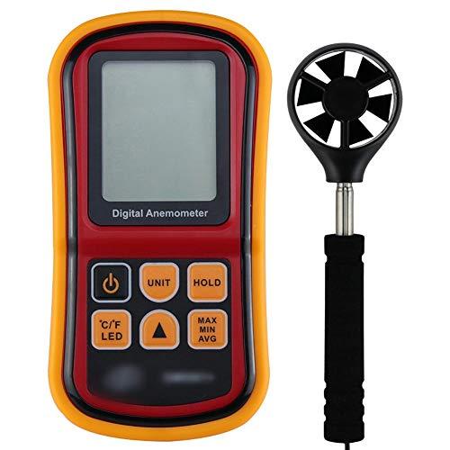 BERYLSHOP Digitalanemometer Tragbare Windgeschwindigkeit Windgeschwindigkeit Windgeschwindigkeit Instrument Luftvolumen Geschwindigkeitsanemometer Anemograph Automatische Abschaltung
