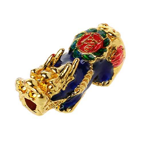 Yushu - Amuleto chino Pixiu, cambio de color con detección de temperatura, amuleto de la suerte, fabricación de joyas, amuleto de estatua para suerte y felicidad, regalo de joyería Feng Shui
