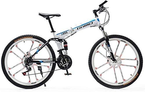 BNGS Mountain bike/bicicletta leggera per bambini adultiRuota da 26 pollici Telaio in alluminio leggero Freno a disco a 27 velocità Bicicletta da viaggio (Colore: 4) -5
