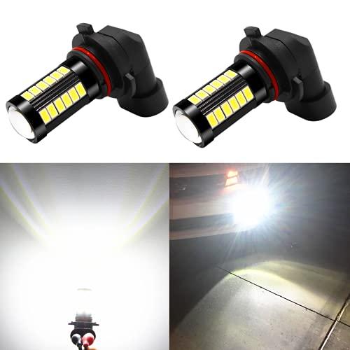 Alla Lighting 9145 H10 LED Fog Light Bulbs 2800 Lumens Xtreme Super Bright PY20D 9140 9045 9155 9040 5730 33-SMD 12V, 6000K Xenon White