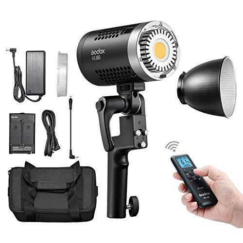 Godox ML60 Lámpara LED de Estudio 60W, Linterna de Video LED CRI...
