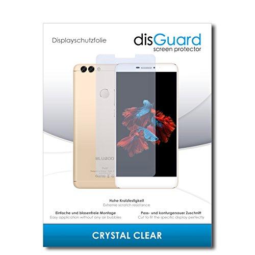 disGuard Schutzfolie für Bluboo Dual [2 Stück] Kristall-Klar, Bildschirmschutzfolie, Glasfolie, Panzerglas-Folie, Bildschirmschutz, extrem Kratzfest, Schutz vor Kratzer, transparent