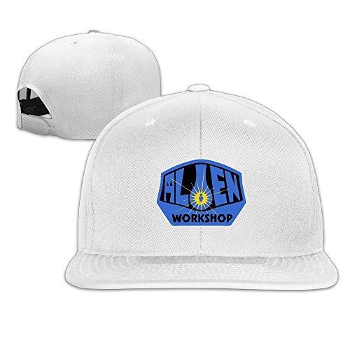 YVES Cool Alien Workshop Skate Adjustable Baseball Caps (8 Colors) White