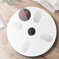 バスルームスケール、スマートボディ脂肪スケールの減量ホーム電子スケールの人体正確で耐久性のある脂肪小さい体重スケールを測定,白