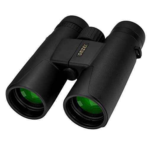 Price comparison product image OMZER 10x42 High Powered Compact Binoculars for Adults with BAK4 Prism FMC Lens,  Large Eyepiece Binocular with Carrying Bag for Bird Watching,  Hiking,  Hunting,  Camping,  Concert
