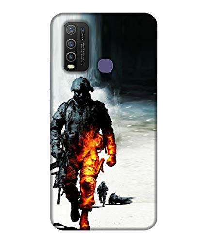 letaps printed colorful indian army, army lover, proud india designer back case cover for vivo y30 / y50 (multicolour) - Multi-Coloured